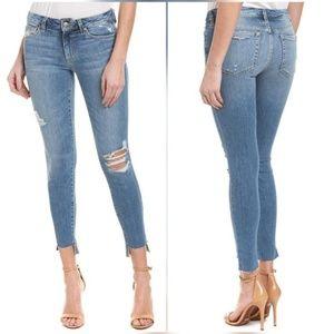 Joe's Wakely Skinny Distressed Step Hem Jeans 28